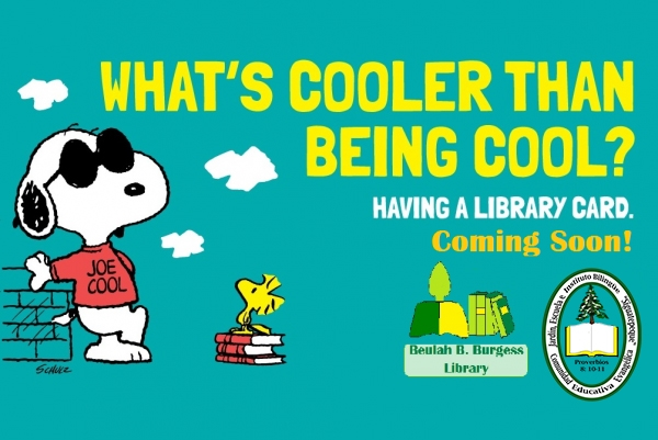Snoopy Says Library Cards are cool!